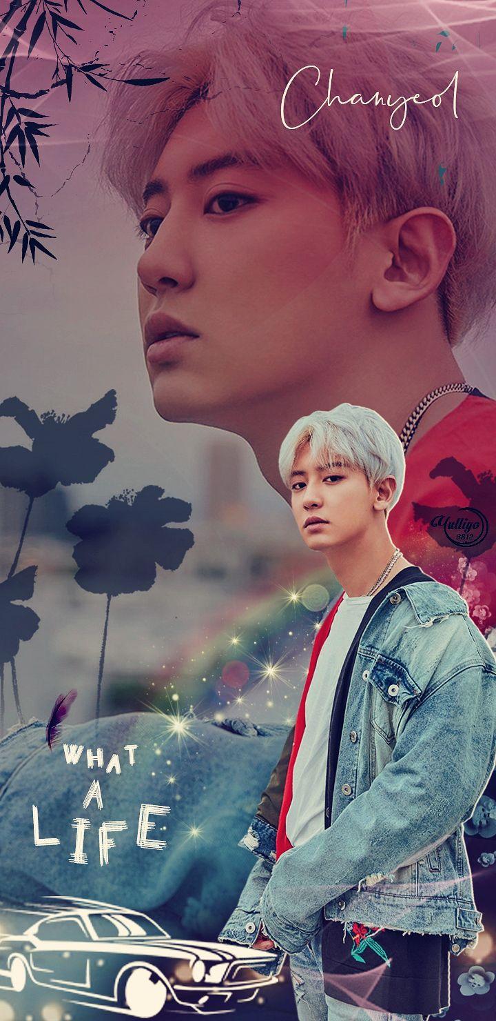 Exo Chanyeol What A Life Lockscreen Wallpaper Pls Make Sure To Follow Me Before U Save It Find More On My Account Exo Lockscreen Exo Anime Exo