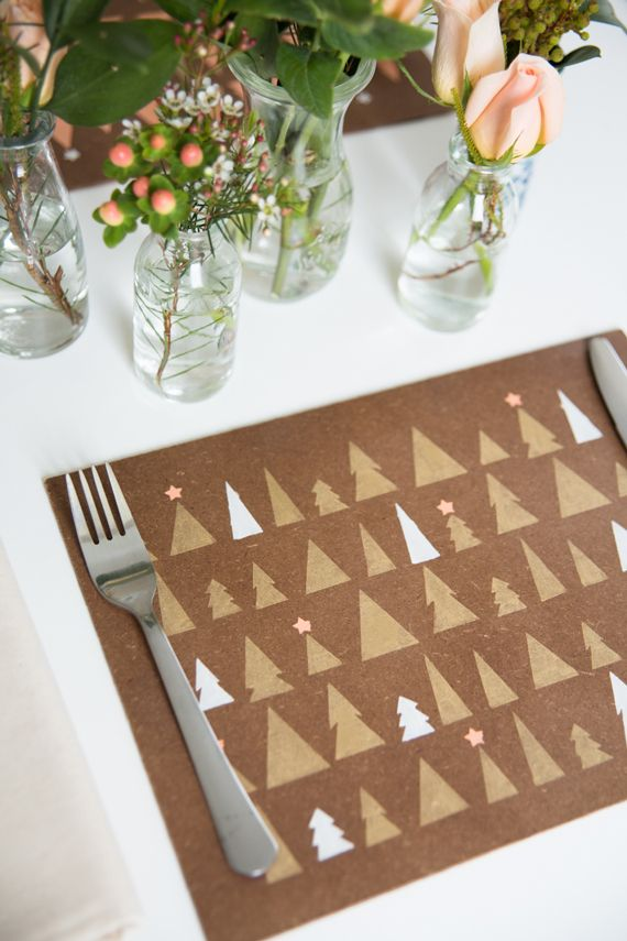 DIY Stenciled Placemats