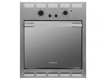 Forno de Embutir a Gás Venax Cristallo EG GII - 18287 Inox 50L Grill Timer  R$ 999,00em até 10x de R$ 99,90 sem juros no cartão de crédito