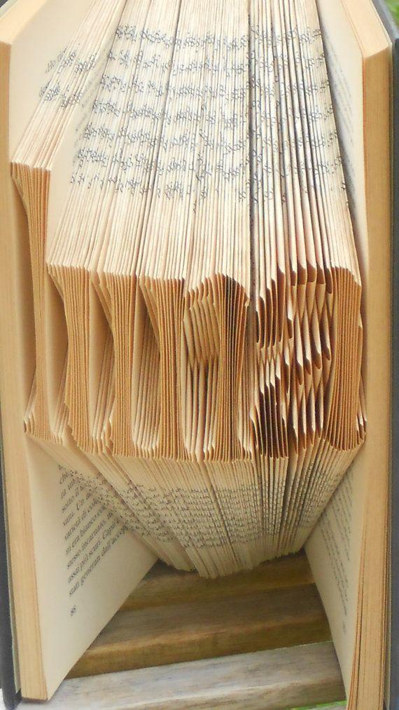 Libro scultura Luna Origami Regalo Unico Libro di morphingpot