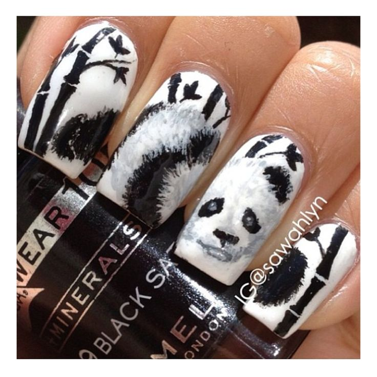 25 best nail panda images on pinterest adhesive artists and image via panda nail art designs image via how to create cute panda nail art image via panda nails image via nail art water decals transfers sticker lovely prinsesfo Image collections