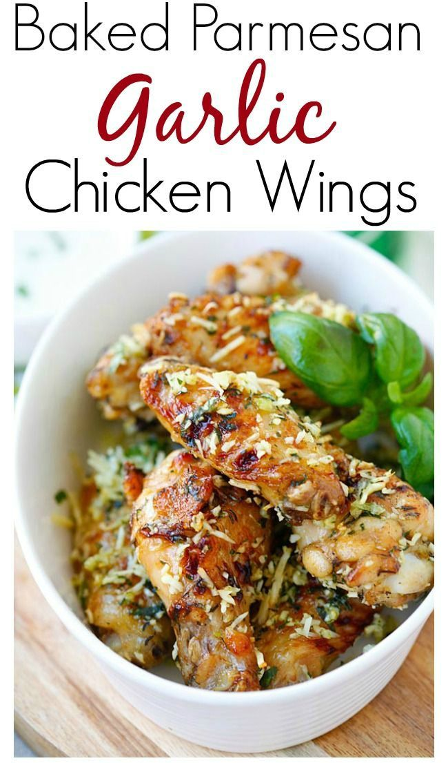 Baked Parmesan Garlic Chicken Wings – best and easiest baked chicken ...