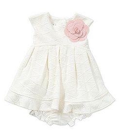 Pippa & Julie 3-24 Months Textured-Knit Dress
