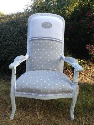 voltaire lin et pois avec monogramme fauteuils pinterest. Black Bedroom Furniture Sets. Home Design Ideas