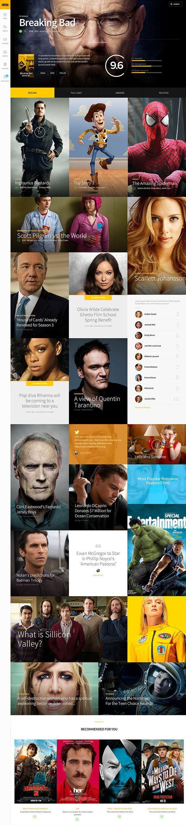 IMDb concept design by João Paulo Teixeira #inspiration #ux #ui