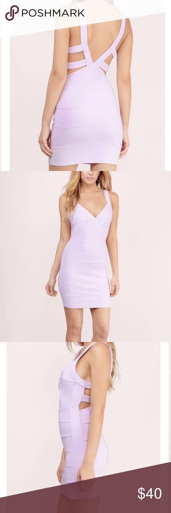Tobi lavender bandage bodycon dress Tobi lavender bandage bodycon dress. Size small. Love this dress! Too large in the bust for me :( sadly NWT Tobi Dresses