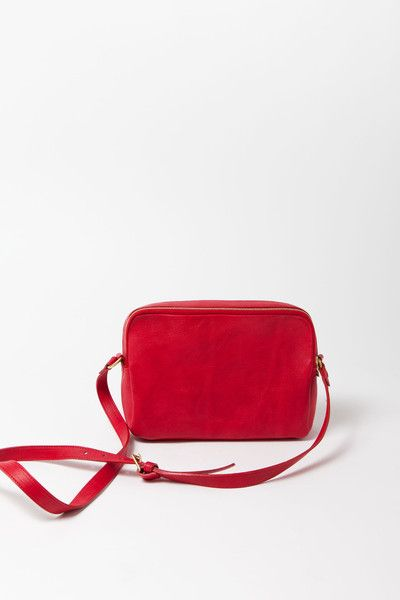 Brittens Zip Crossbody/ Red