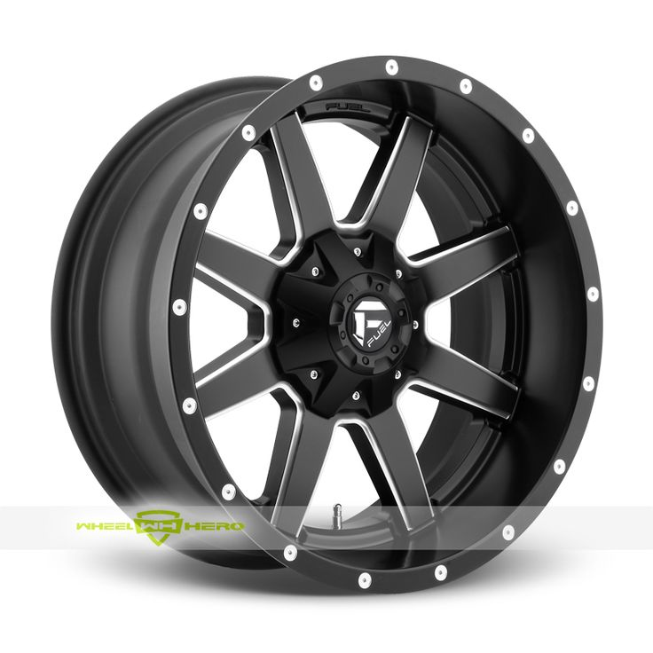 Fuel Maverick D538 Black Milled Wheels For Sale & Fuel Maverick D538 Rims And Tires