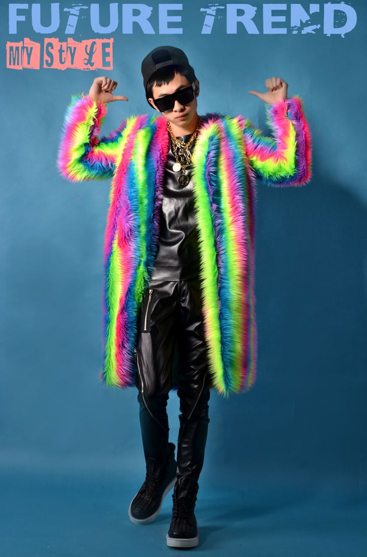 ==> [Free Shipping] Buy Best LOBUDEK 2016 male costume rainbow coat long jacket slim Online with LOWEST Price   32765987656