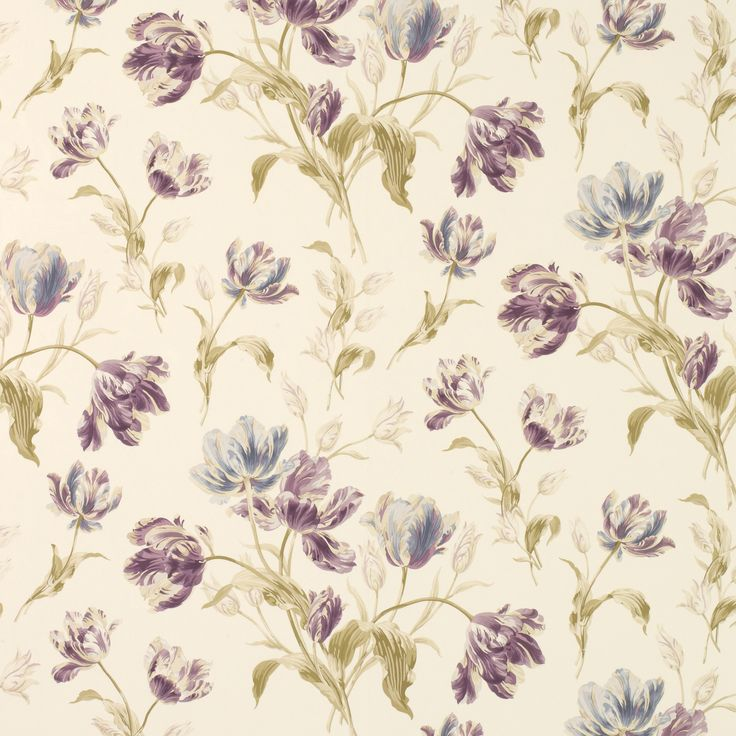 Laura Ashley wallpaper - makes me think of Elizabeth Blackadder because of the style and colour palette