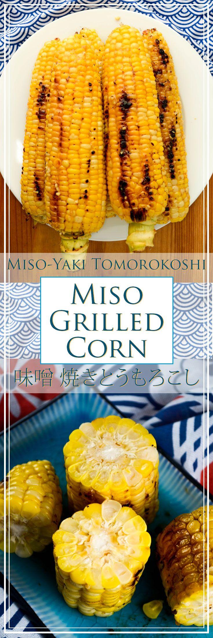 Miso Grilled Corn (Miso-yaki Tomorokoshi) with butter, miso, and shio koji.