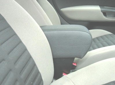 FIAT GRANDE PUNTO / PUNTO EVO / LINEA / PUNTO 2012 Armrest with large storage in dark grey Eco leather