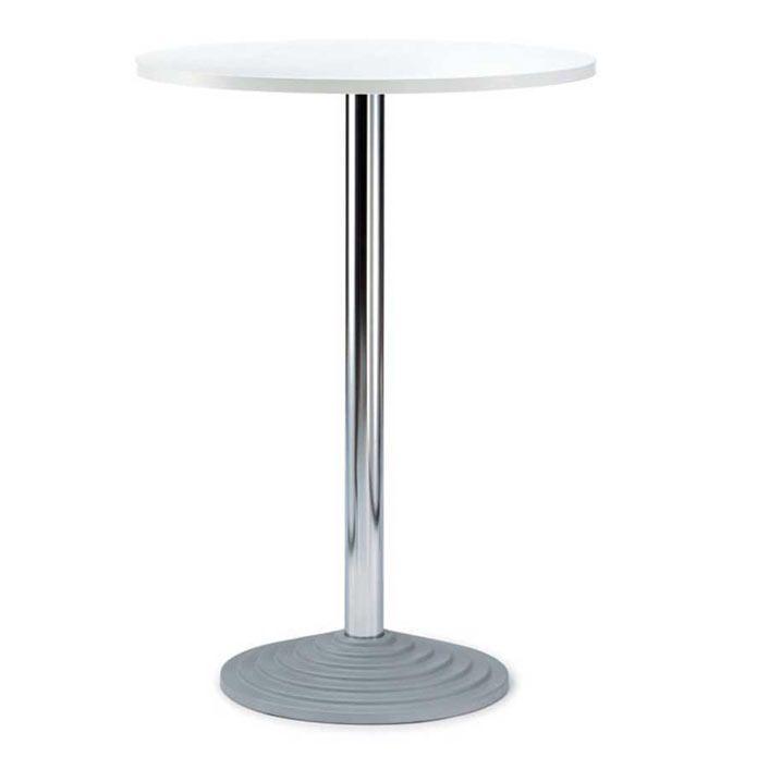 Stehtisch Rund Platte Holzdekor Weiss Stehtisch Dekor Und Tisch