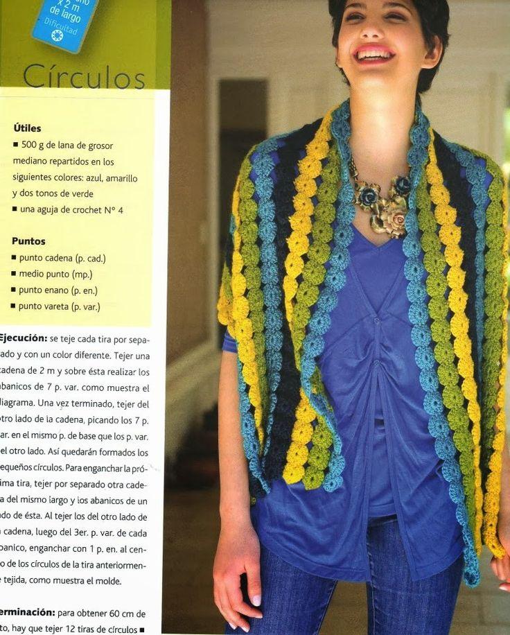 Strisce fiori all'uncinetto Scialle Pattern - Patterns Crochet