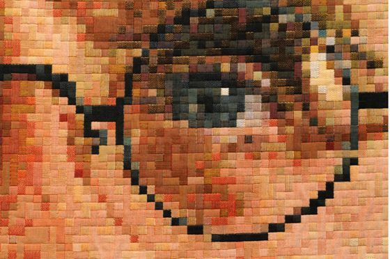 chuck close tapestry - Google Search