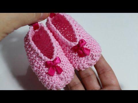 DIY ! Tejer patucos de bebé con dos agujas I Baby Booties I cucaditasdesaluta | Cucaditas de Saluta