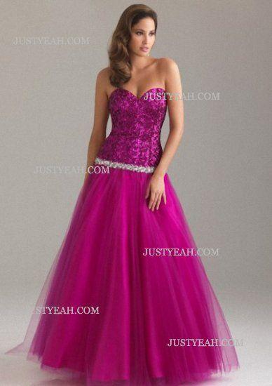 A-line Sweetheart Paillette Sleeveless Evening Dresses