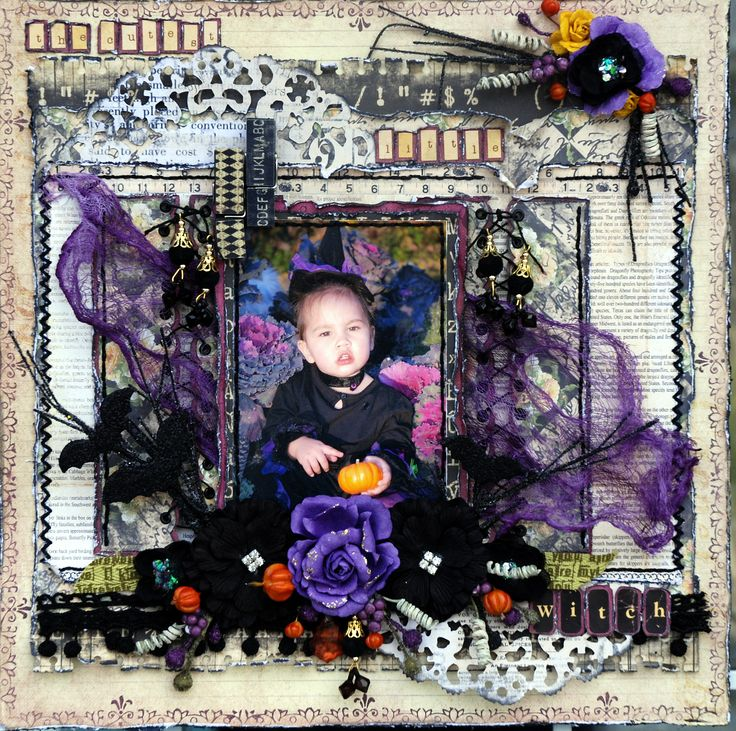The Cutest Little Witch ***Prima October PPP**** - Scrapbook.com