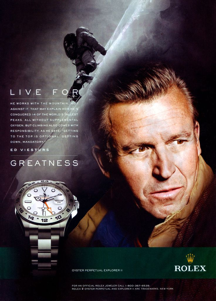 Rolex Explorer II - Ed Viesturs - click through for an incredible page describing Ed Viesturs and his long association with Rolex watches.