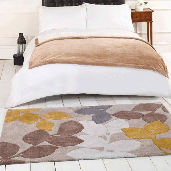 High Quality Shop For High Quality Rugs At Great Prices. Buy The Infinite Seasons  Stencil Leaves Modern Rug   Ochre, Grey At A Great Price And Get Free Fast  Delivery.