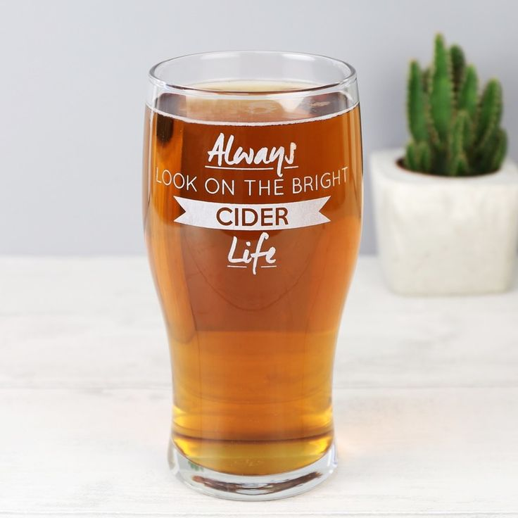 Enjoy your favourite cider in one of our Engraved 'Bright Cider Life' Pint Glasses. With Free Worldwide Delivery and No Minimum Spending Limit.