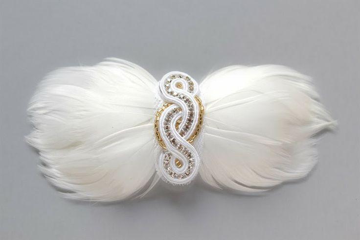 hair accessories wedding , soutache Jezka