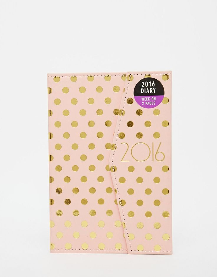 Paperchase A5 Magnetic Diary With Gold Spot