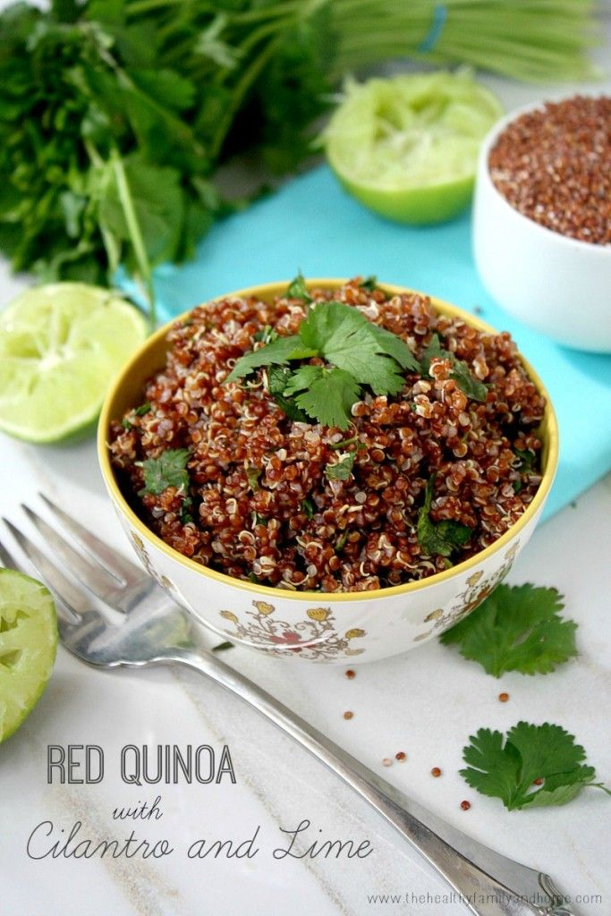 Red Quinoa with Cilantro and Lime...only 4 easy, clean ingredients and it's vegan and gluten-free #quinoa #cleaneating #healthy