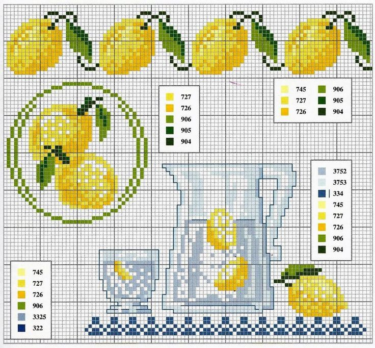 cross stitch - lemons and lemonade