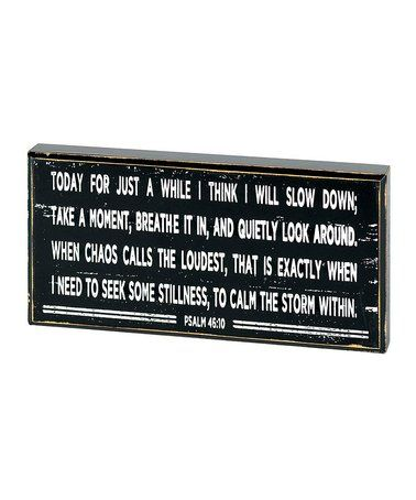 Another great find on #zulily! Psalm 46:10 Tabletop Plaque #zulilyfinds
