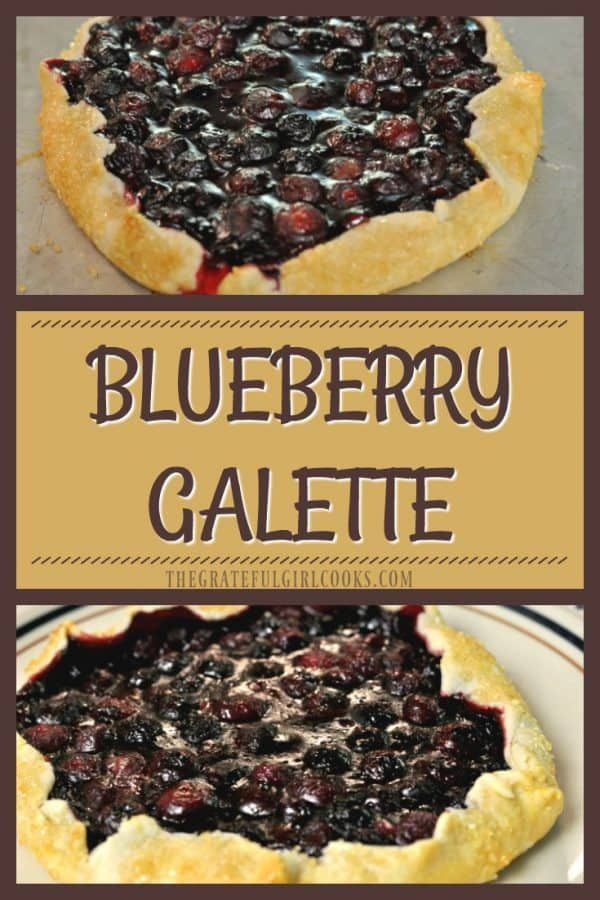 Enjoy this rustic, freeform shaped blueberry galette dessert... it's simple and delicious, uses pie crust dough, and is easier than making a pie! via @gratefuljb