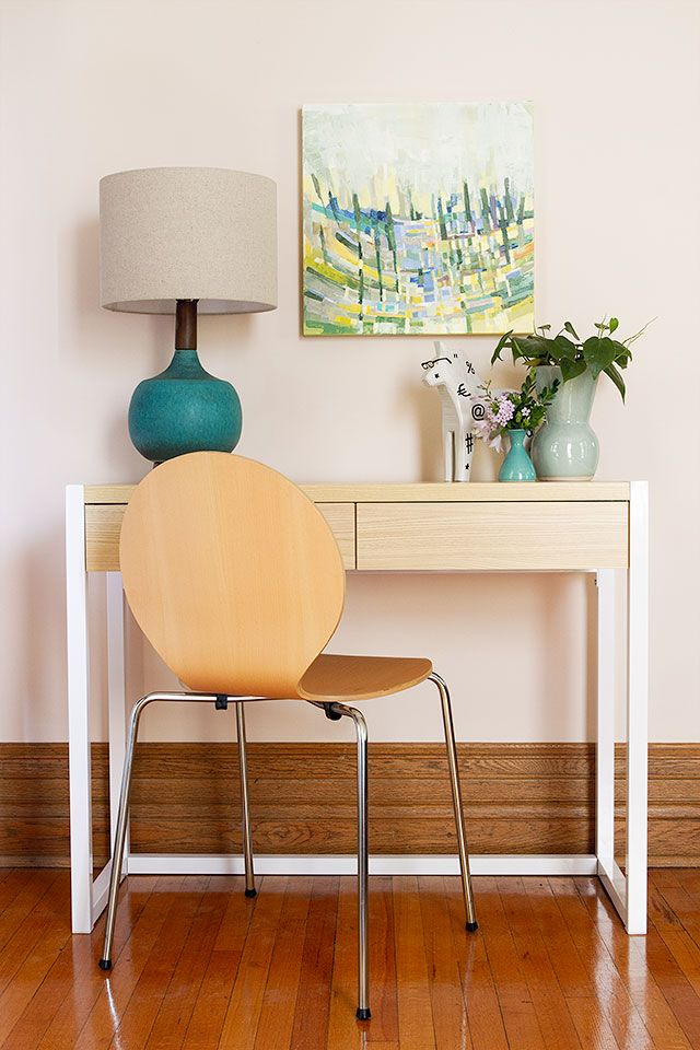 Foyer Table West Elm : Turquoise modernist table lamp from west elm spotted