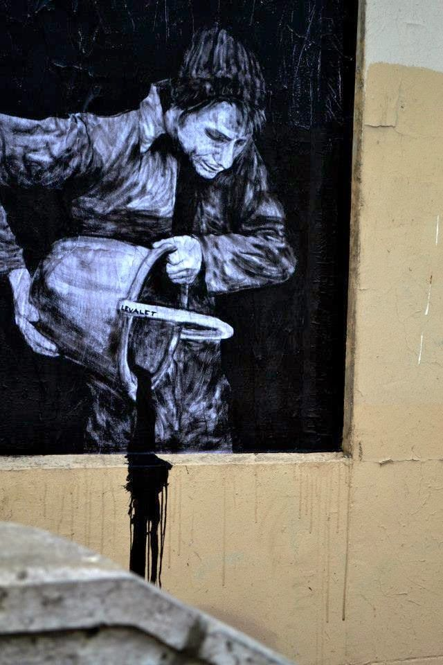street art by Levalet- Paris http://restreet.altervista.org/levalet-si-muove-in-bilico-tra-la-poesia-e-la-denuncia-sociale/