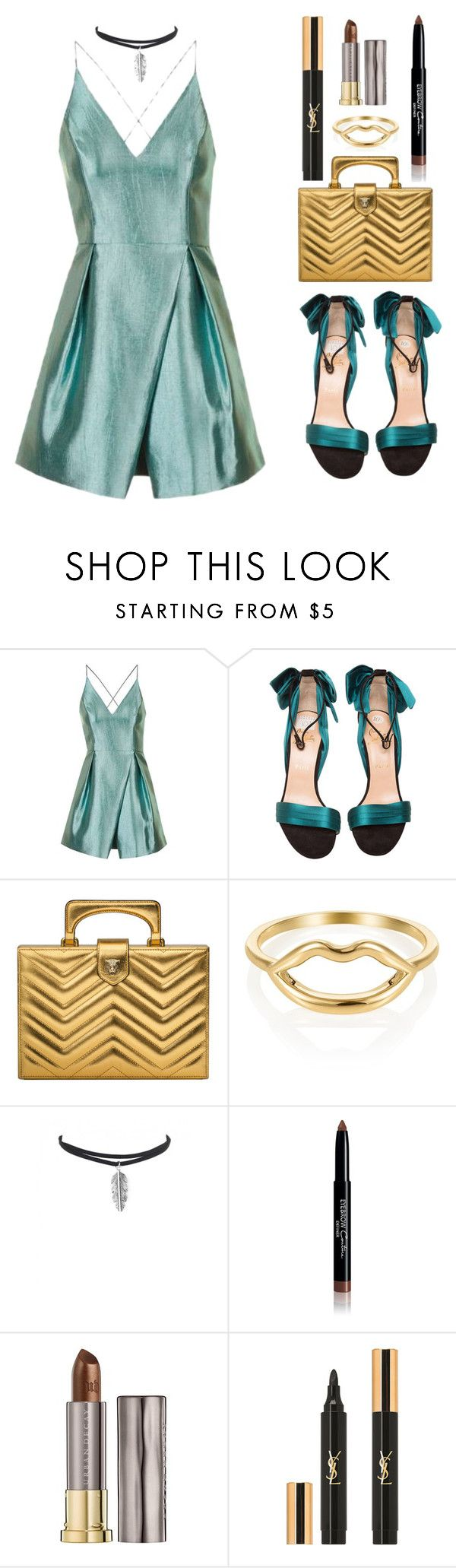 """Me, my self and I"" by steviepumpkin ❤ liked on Polyvore featuring Topshop, Christian Louboutin, Gucci, Givenchy, Urban Decay and Yves Saint Laurent"
