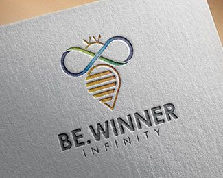 Logo Design - Bee Infinity This stunning logo design was created by AMCstudio