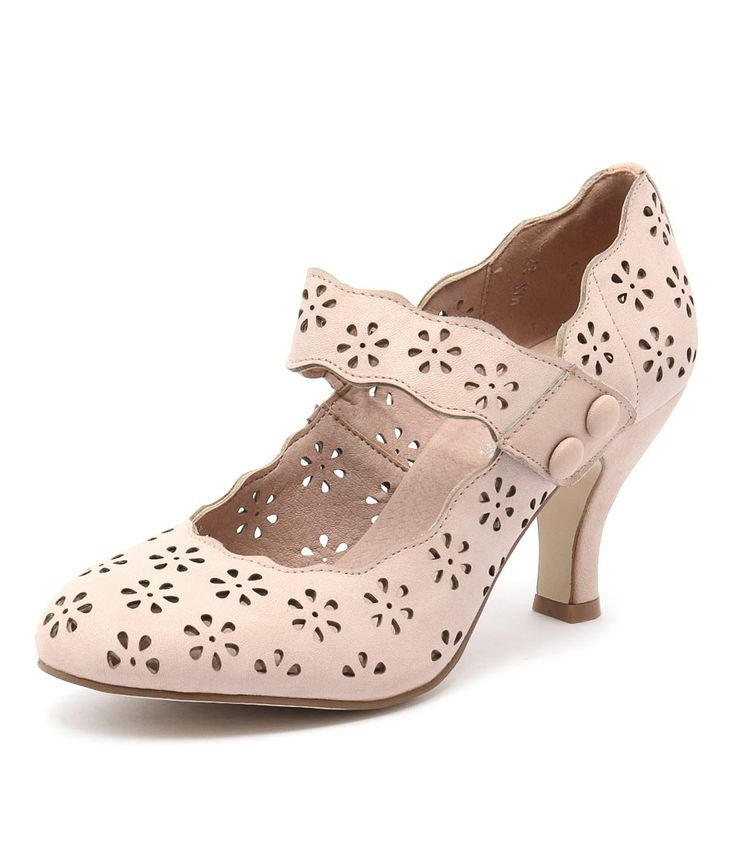 This sweet Mary-Jane heel delivers an instant feminine update to any ensemble! Team with full dresses in prints and bright, colourful hues. Shop 'May Blush' by I Love Billy at styletread.com.au