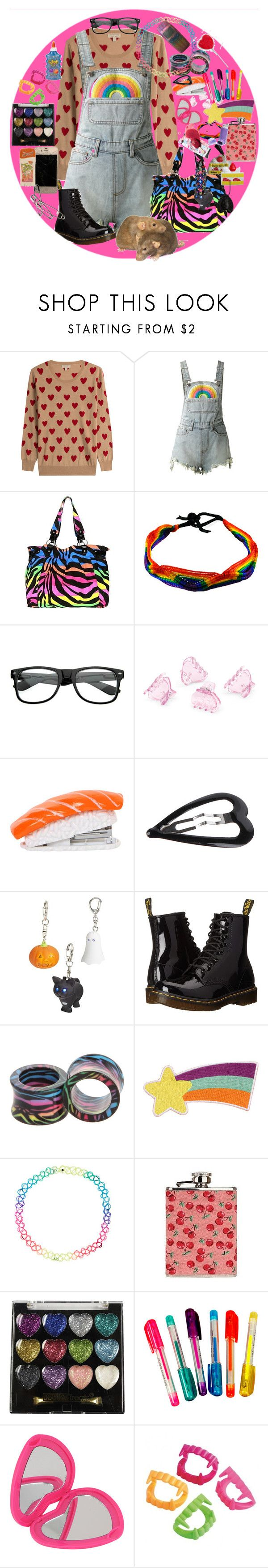 """cant undo the scars up and down our hearts"" by bringmemethehorizon ❤ liked on Polyvore featuring Burberry, UNIF, Hot Topic, ZeroUV, H&M, Forever 21, Dr. Martens, Accessorize, SAM. and Dylan's Candy Bar"