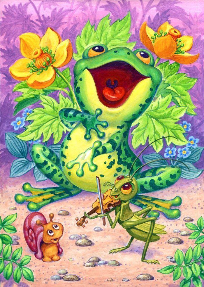 Иллюстрации картинки лягушка