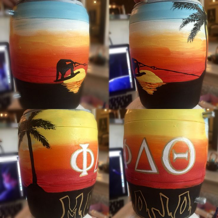 phi delta theta fraternity painted bubba keg