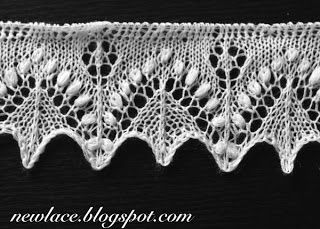 New lace - old traditions: 22. knit Edge lace Silvia