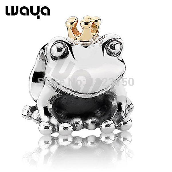 Шарма стерлингового серебра 925 лягушки принца очарование кулон король бусины для браслет выгравированы браслет гравировка ожерелье лучший подарок купить на AliExpress
