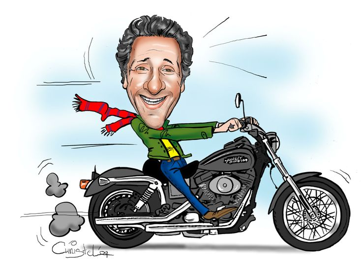 motor cartoon karikatuur | Sneltekenaar Christel Schols ...