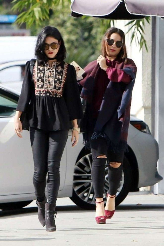 Vanessa and Stella Hudgens - Leaving 'Palihouse' Restaurant in West Hollywood