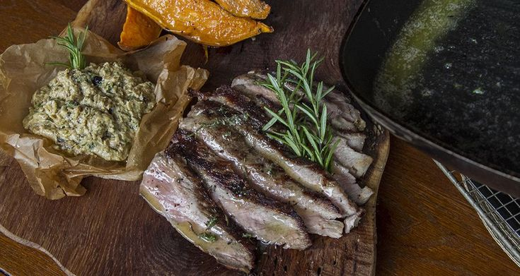 How to cook perfect steaks by greek chef Akis. Watch the video and learn once and forever the easiest way to make the best beef steaks with sweet potatoes and baba ghanoush.