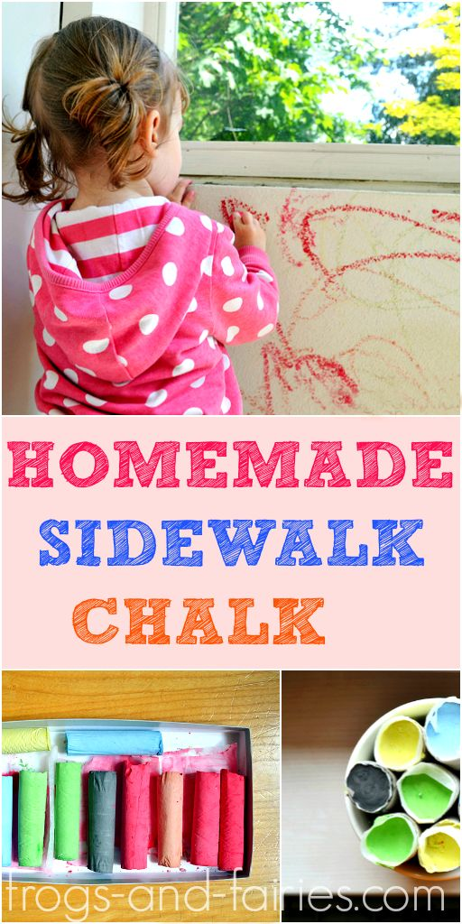 A great Project for Spring and Summer- Easy Homemade Sidewalk Chalk Tutorial! frogs-and-fairies.com