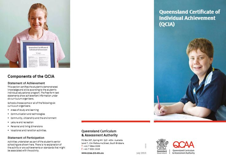 Brochure and FAQ - The Queensland Certificate of Individual Achievement (QCIA) brochure provides general information and answers some frequently asked questions.