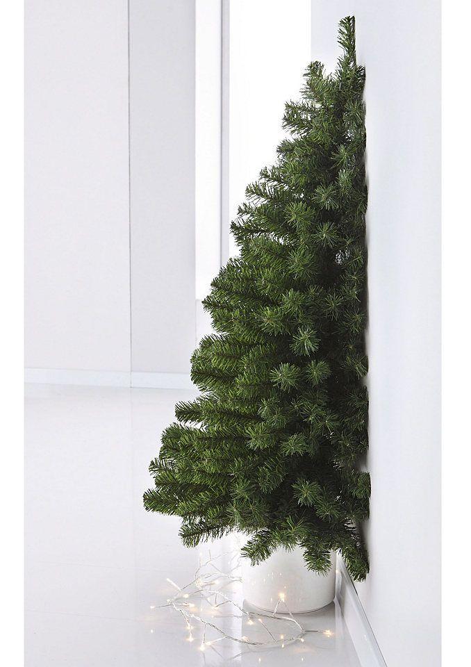 Vintage K nstlicher Weihnachtsbaum mit Schnee in Gr en