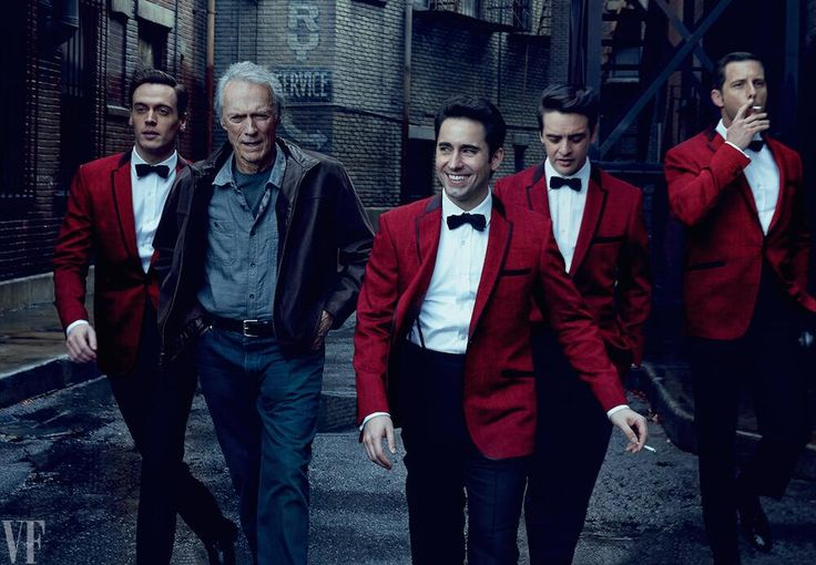Clint Eastwood and the Jersey Boys photographed by Annie Leibovitz. Such a good movie