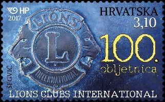Croatia - 2017 Lion Club International, 100th Anniversary (MNH)