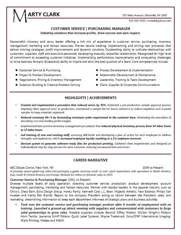 Customer Service Manager Customer service resume